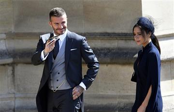 David y Clooney Beckham deslumbran en la boda real del principe Harry y Megan Markle
