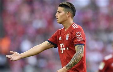 James Rodríguez se quedó con las ganas de alzar la Copa Alemana