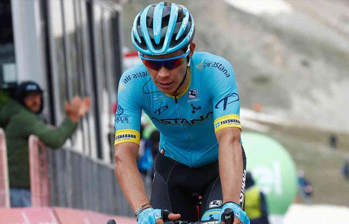 Miguel Ángel López se lució en la etapa 14 y fue el mejor colombiano