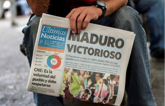 ¡Presidente reelecto! Maduro seguirá en el poder hasta el 2025