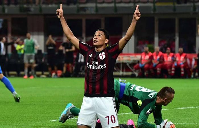Carlos Bacca regresa al Milan