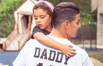 James Rodríguez no se esperaba la tierna sorpresa de Salomé y Daniela Ospina