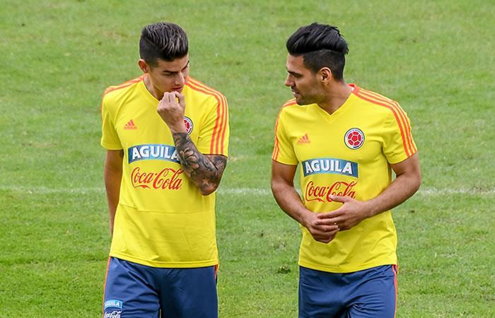 James y Falcao por fin entrenaron con la selección Colombia