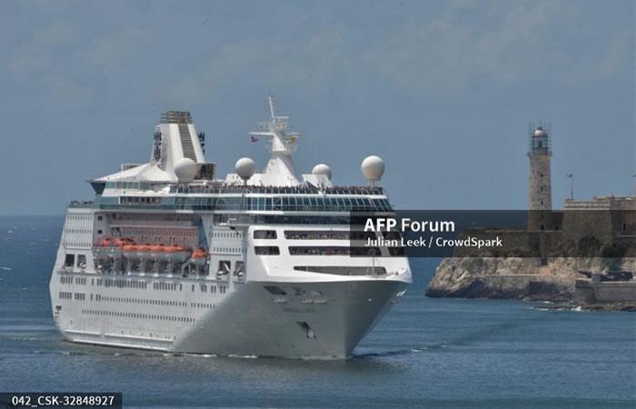 El primer barco curing Norwegian. Foto. AFP.