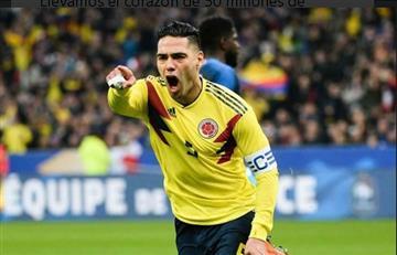 """Falcao García: """"Llevamos el corazón de 50 millones de colombianos"""""""