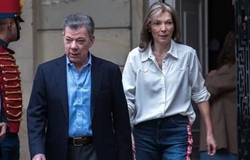 Primera dama de Colombia vota con polémico mensaje en su pantalón