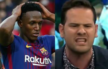 Periodista español despreció a Yerry Mina en plena transmisión