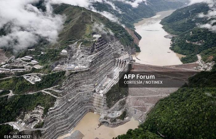 La central hidroeléctrica de Ituango. Foto: AFP