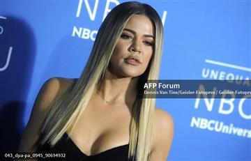Khloé Kardashian muestra su abdomen plano seis semanas tras dar a luz