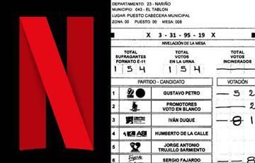 Netflix se burla del presunto fraude electoral E-14 a favor de Iván Duque