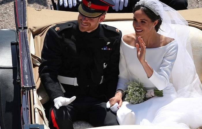 Los duques de Suseex. Foto. AFP.