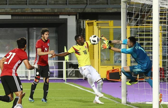 La selección Colombia quedó en deuda con el gol ante Egitpo