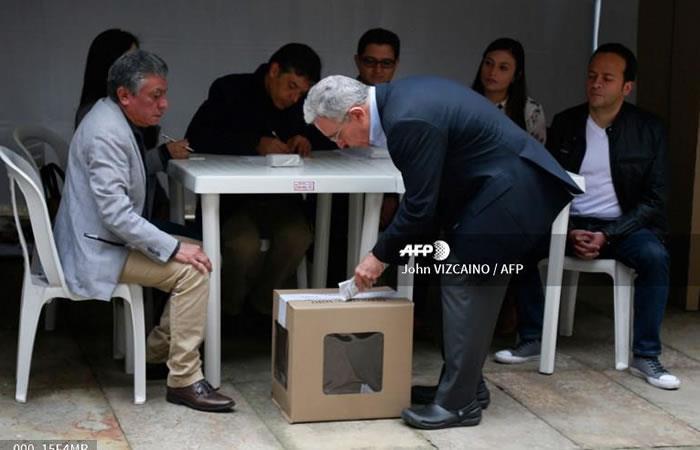 Senador Álvaro Uribe. Foto: AFP