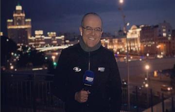 Rusia 2018: Ruso volvió a dañar directo del periodista Ricardo Orrego