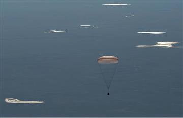Astronautas de la ISS vuelven a la Tierra con un balón para el Mundial