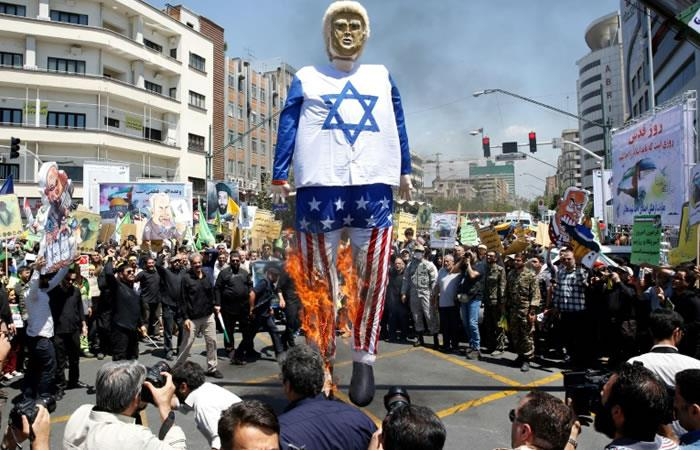 Los palestinos reciben el apoyo de Irán en el Día de Jerusalén