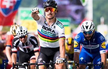 Vuelta a Suiza: Fernando Gaviria quedó a un puesto de ganar la segunda etapa