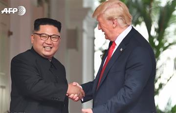 Trump y Kim: Las fotos del histórico apretón de manos