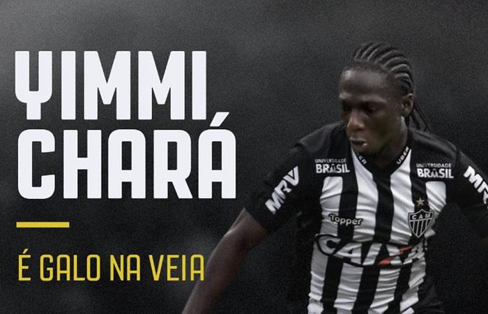 Yimmi Chará llega al Atlético Mineiro con la única ilusión de ser campeón