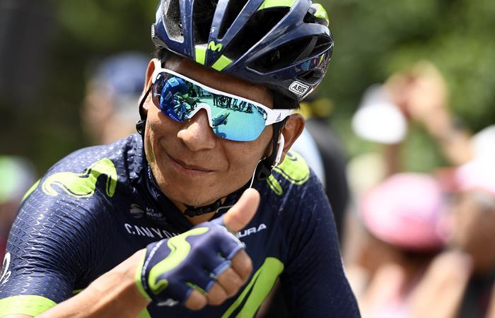 Nairo Quintana le enseña a Mikel Landa quién manda en el Movistar