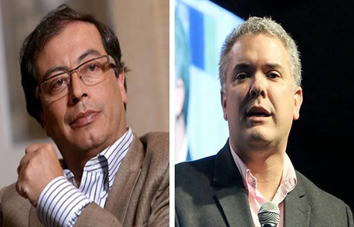 Petro y Duque se enfrentarán en la segunda vuelta este 17 de junio. Foto: AFP