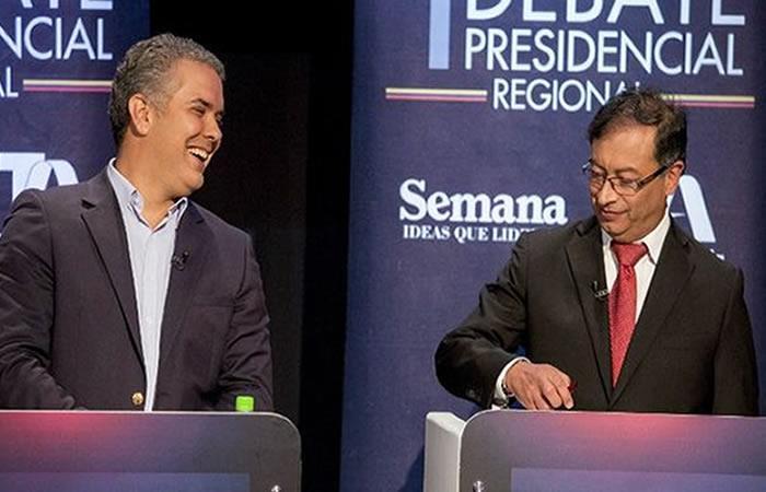 Foto: AFP. Duque y Petro se medirán en las urnas este 17 de junio.
