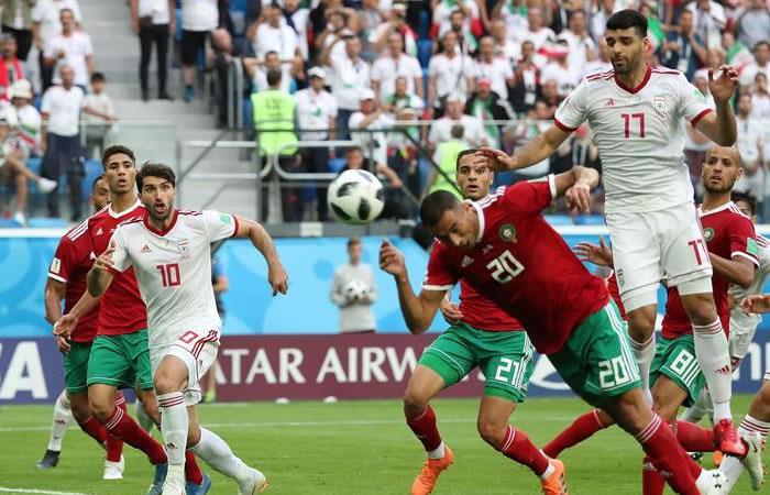 Irán ganó a Marruecos al último minuto con un autogol