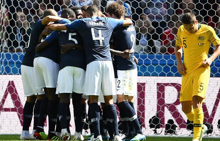 Francia venció a Australia. Foto: AFP