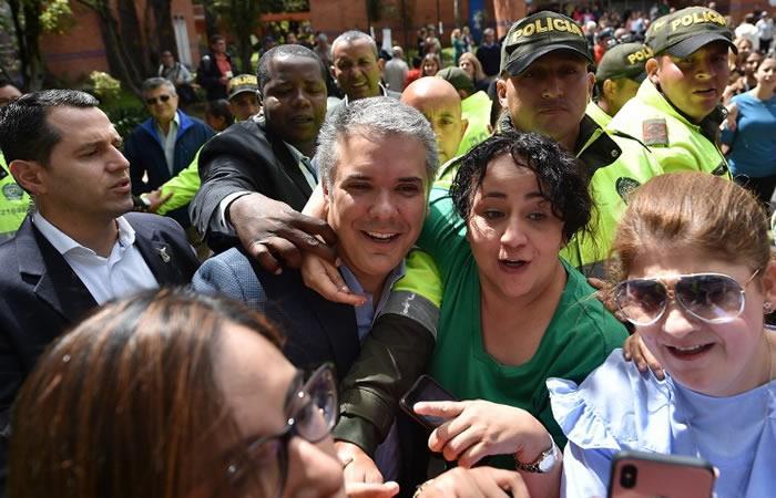 Iván Duque, líder del Centro Democrático. Foto: AFP