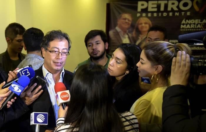 El candidato presidencial colombiano Gustavo Petro. Foto: AFP