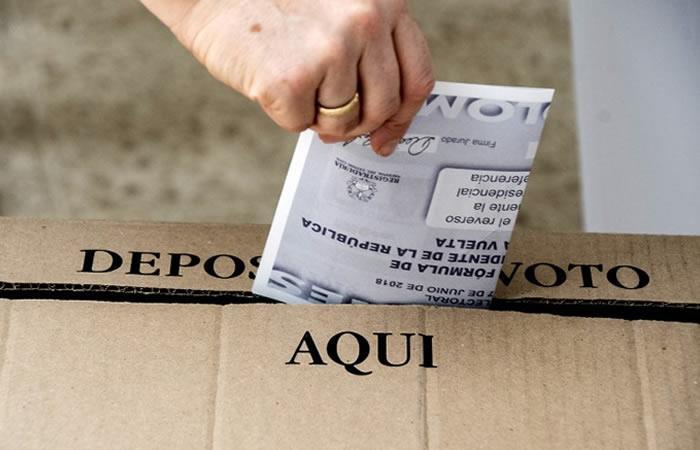 Finaliza la jornada electoral en Colombia. Foto: AFP