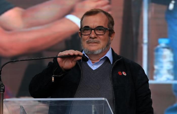 Rodrigo Londoño, alias Timochenko, líder del partido FARC. Foto: AFP