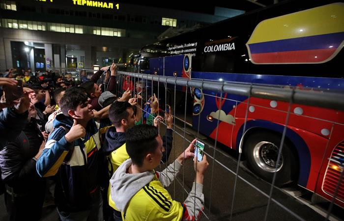Selección Colombia llegó a Saransk donde debutará contra Japón
