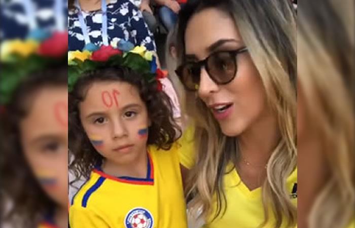 Daniela y Salomé presentes en el partido Colombia vs Japón. Foto:InstagramOficial