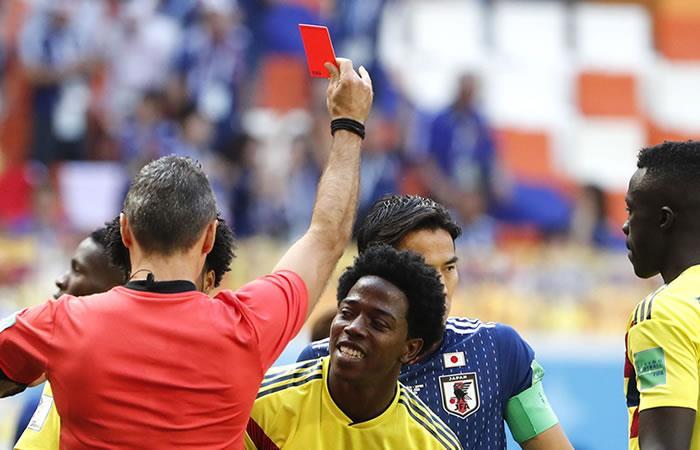 Carlos Sánchez es el primer jugador expulsado de Rusia 2018. Foto: EFE