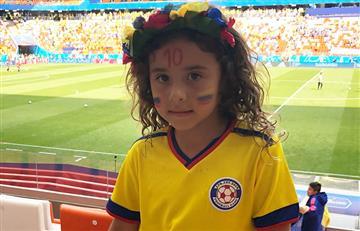James Rodríguez: Así alienta su hija Salomé a la selección Colombia
