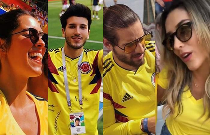Famosos que apoyaron a Colombia contra Japón. Fotos:InstagramsOficiales