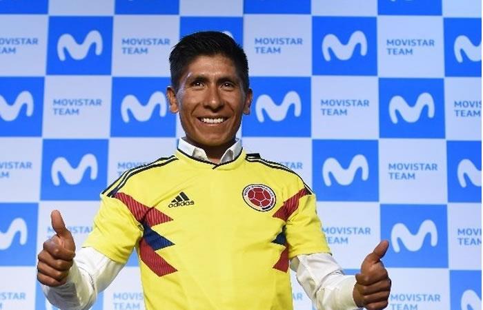 Nairo Quintana demuestra que es un hincha fiel de la selección Colombia
