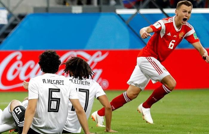 Rusia se impuso 3-1 ante la selección de Egipto. Foto: EFE