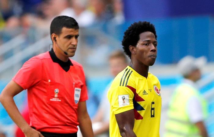 El colombiano Carlos Sánchez es el primer expulsado del Mundial 2018