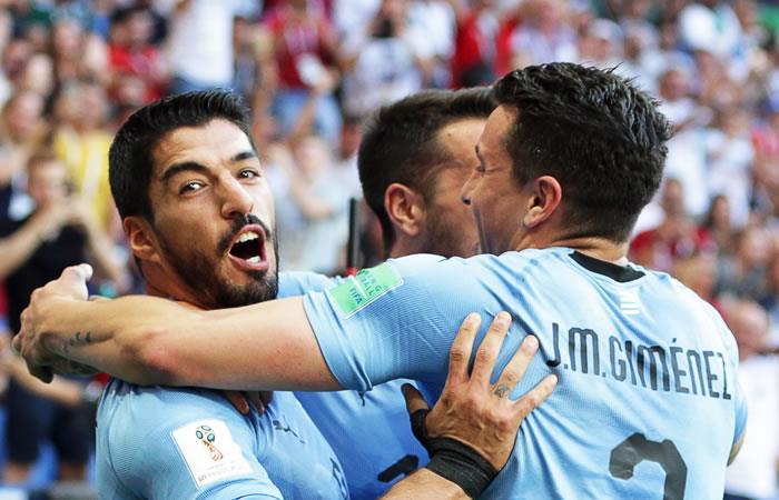 Uruguay clasificó a octavos de Rusia 2018. Foto: EFE