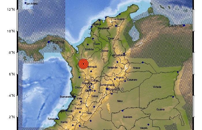 Antioquia: Servicio Geológico reporta tres sismos en el departamento