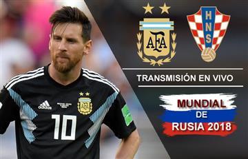 Argentina vs. Croacia: Transmisión EN VIVO online