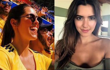 Ni a Paulina Vega le perdonan amarrarse la camiseta de la Selección Colombia