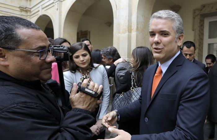 Iván Duque se interesa en mantener buenas relaciones con Estados Unidos. Foto: AFP