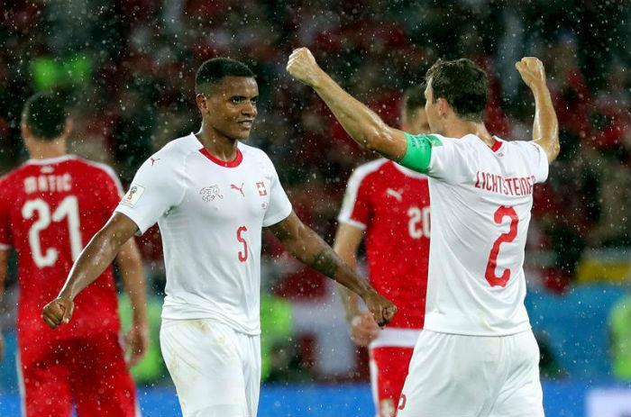 Serbia empata con la selección de Suiza. Foto: EFE