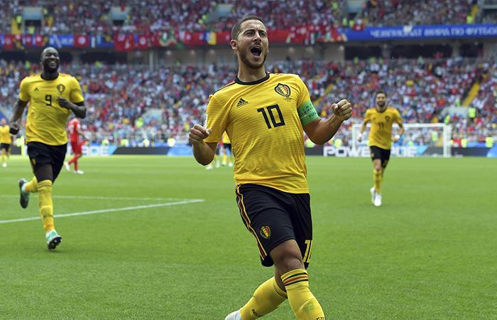 Bélgica goleó a Túnez y ya está en octavos de final. Foto: EFE
