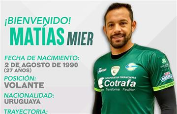 La Equidad se refuerza con Matías Mier, proveniente del Atlético Junior