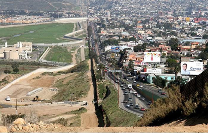 Frontera entre Estados Unidos y México. Foto: AFP