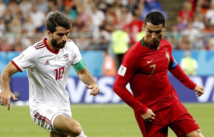 Irán y Portugal empataron en el último duelo de la fase de grupos. Foto: EFE